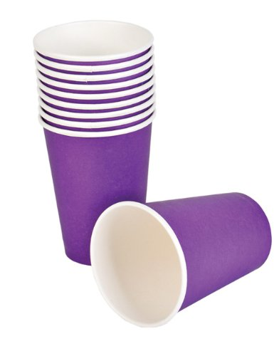Purple Paper Cups (25 pc)