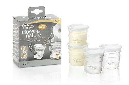 Closer To Nature Milk Storage Pots X 4