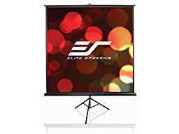 Elite Screens Tripod, 136-inch, Adjustable Multi Aspect Ratio Portable Pull Up Projection Projector Screen, T136UWS1