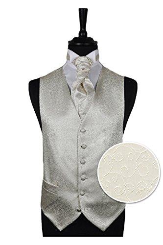 Boys Ivory Scroll Wedding Waistcoat