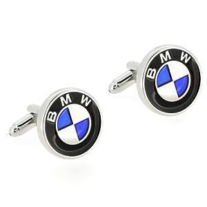 Bmw Logo Automotive Car Black And Blue Cufflinks by Fantasyard
