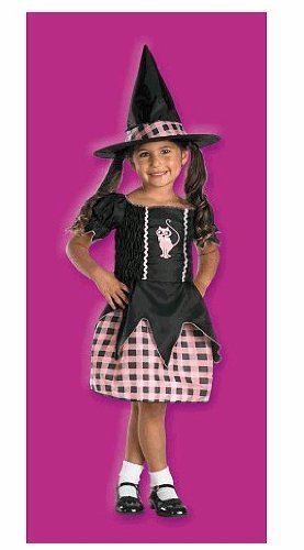 Disguise Pink Plaid and Black Witch Costume ~ Toddler 3T-4T