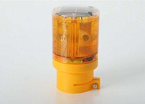 Xiqi Solar Powered Led Light Barricade Flashing Warning Safety Sign 6-Led Flash Traffic Led Light (Yellow)