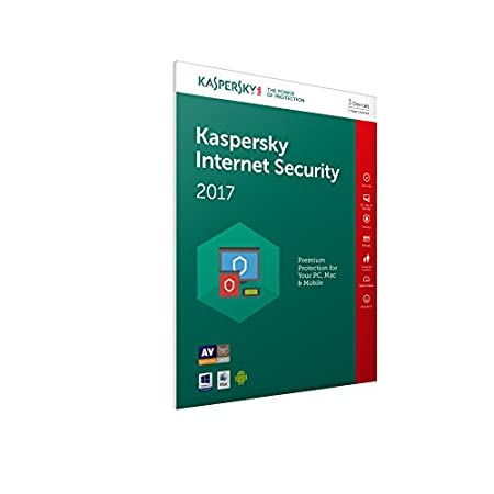 Kaspersky Internet Security 2017 (3 Devices, 1 Year) FFP (PC/Mac/Android)