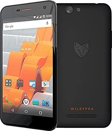 Wileyfox Spark Plus Smartphone débloqué 4G (Ecran: 5 pouces - 16 Go - Double SIM - Android) Noir