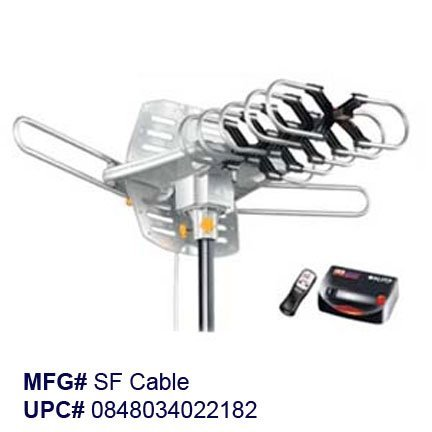 Amplified hd digital outdoor hdtv antenna with motorized for Motorized outside air damper
