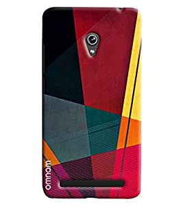 Omnam Red Black Yellow Pattern Printed Designer Back Cover Case For Asus Zenfone 6