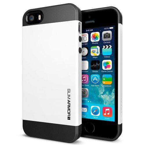 国内正規品SPIGEN SGP iPhone5/5S ケース スリムアーマーS [スムースホワイト] SGP10370