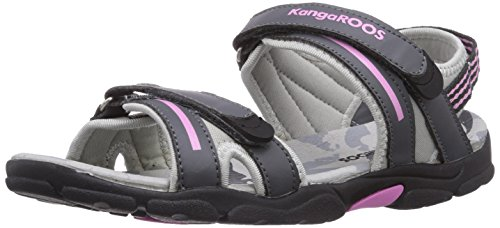 KangaROOS - Corgi, sandali  per bambine e ragazze, grigio(grau (dk grey/pink 266)), 27