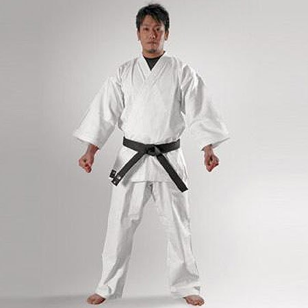Body maker (BODYMAKER) BB-SPORTS BODYMAKER traditional karate uniform pure white 4, with top and bottom set and white belt 1 FKD4 1FKD4