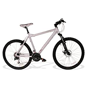 Mens Alloy 21 SPEED Front Suspension Front Disc Muddyfox Vice Mountain Bike in Silver. MANUFACTURERS WARRANTY.