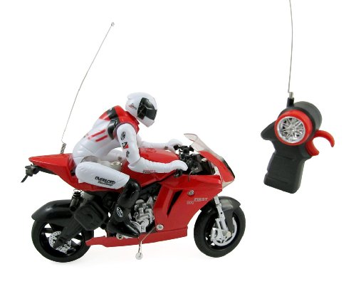 RC Speed Motorcycle Remote Control Motor Bike Racer for Kids with Rider 1:22 Scale
