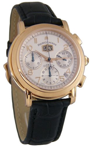 Maurice Lacroix Masterpiece Flyback Annuaire 18kt Rose Gold Mens Watch mp6108-pg101-12e