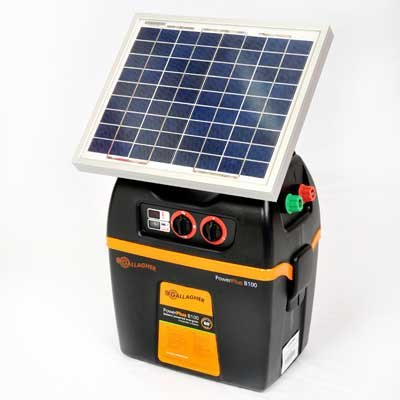 Gallagher G392Sk B100 12-Volt Portable Solar Fencer, 60 Acre/7-Mile
