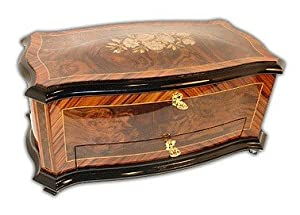 Limited Edition Reuge Music Jewelry Box Elegant Floral Mother of Pearl Inlay RARE
