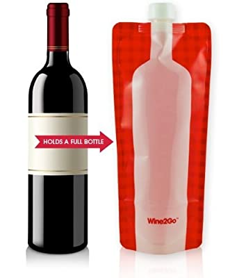 Foldable wine bottle