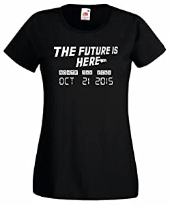 Ladies T Shirt Back to the future inspired 30th Anniversary The future is here Oct 21st 2015