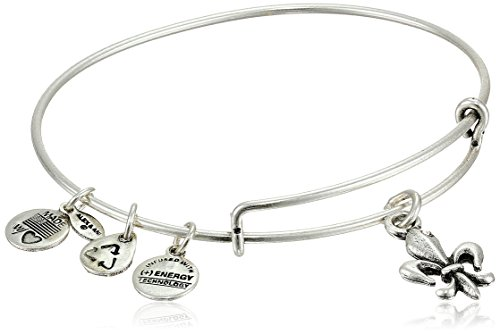 "Alex and Ani Bangle Bar ""Fleur de Lis"" French Royalty Bangle"