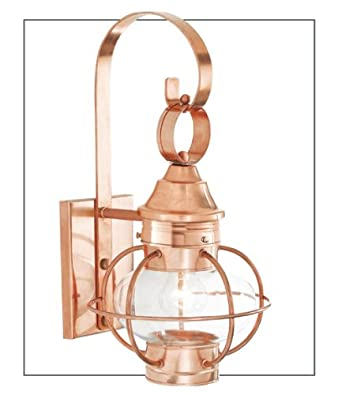 Norwell Lighting 1613-BL-CL New Vidalia Onion - One Light Outdoor Small Wall Mount, Glass Options: Clear Glass, Choose Finish: BL: Black