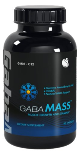 GABA-Mass Gamma Amino Butyric Acid GABA 900mg 90 Capsules 1 Bottle