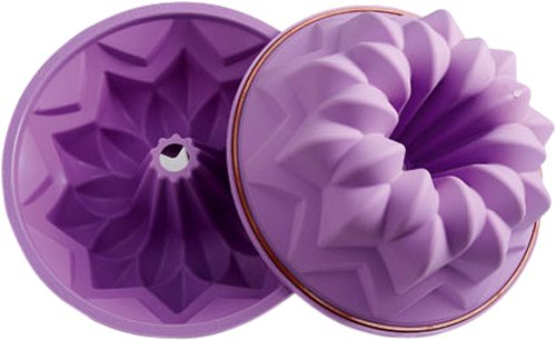 Silikomart Silicone Fancy and Function Bakeware Collection Tube Cake Pan, Meteor