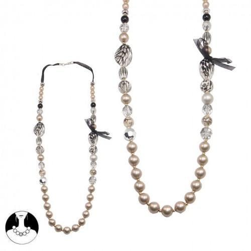 sg paris women necklace necklace 45cm multico plastic