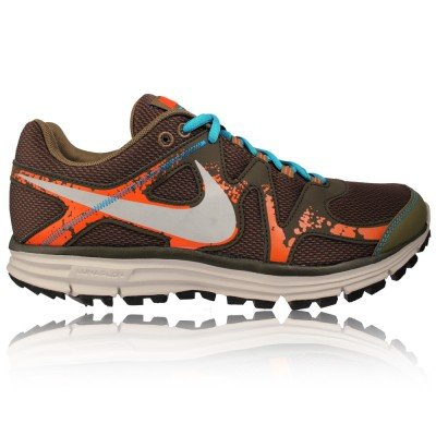 Lunarfly 3 Trail Running Shoes Squadron Green/Reflect Silver/Brown