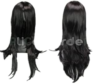 Long Black Cosplay Wig Final Fantasy,Shugo Chara - Ka Dina Costume Wigs (black)
