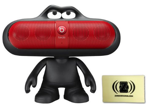 Beats By Dr. Dre Pill 2.0 Wireless Portable Speaker System (Red) Bundle With Black Beats Pill Character Stand And Zorro Sounds Polishing Cloth