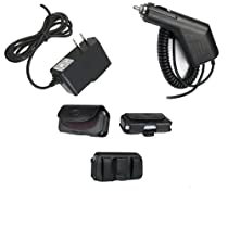 3in1 Car Auto+Home Wall Charger+Leather Case With Belt Clip Bundle For Verizon Samsung Sway U650 Trance SCH U490 Juke U470