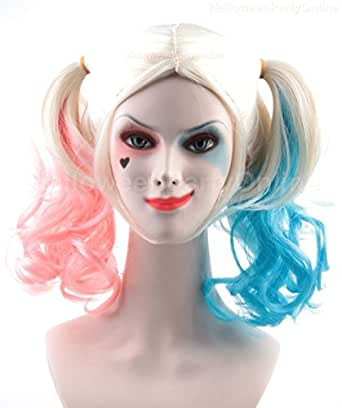 Amazon.com: Halloween Party Online Harley Quinn Wig Suicide Squad