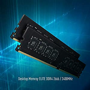 TEAMGROUP Elite DDR4 32GB Kit (2 x 16GB) 2666MHz (PC4-21300) CL19 Unbuffered Non-ECC 1.2V UDIMM 288 Pin PC Computer Desktop Memory Module Ram Upgrade - TED432G2666C19DC01-32GB Kit (2 x 16GB) (Color: DDR4 Dual-channel for Desktop, Tamaño: 32GB (16GBx2) - 2666MHz)