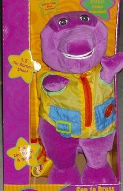 Fun To Dress Barney The Purple Dinosaur Stuffed Animal With Bonus Video front-201601