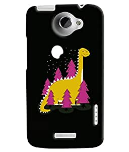 Blue Throat Dianasours Printed Designer Back Cover For HTC One X