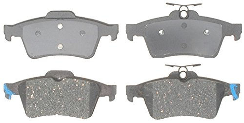 ACDelco 14D1095CH Advantage Ceramic Rear Disc Brake Pad Set with Hardware