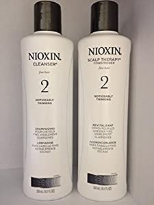 Nioxin System 2 Cleanser and Scalp Therapy Conditioner Duo Nioxin, 0.22 Pound