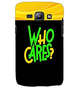 SAMSUNG GALAXY J1 WHO CARES Back Cover by PRINTSWAG