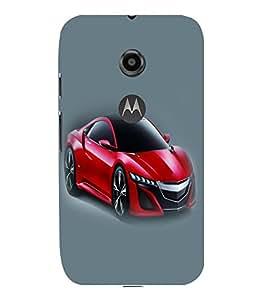 printtech Superfast Car Back Case Cover for Motorola Moto E2::Motorola Moto E (2nd Gen)