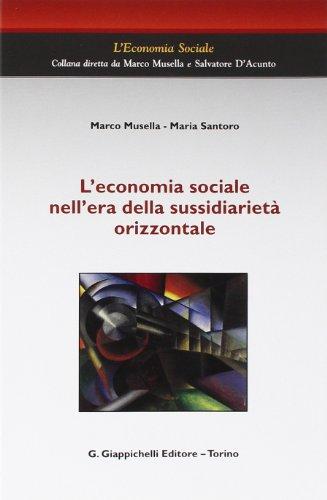 L'economia sociale nell'era della sussidiarietà orizzontale