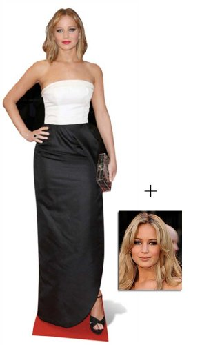 Fan Pack - Jennifer Lawrence Lifesize Cardboard Cutout / Standee - Includes 8x10 (20x25cm) Star Photo