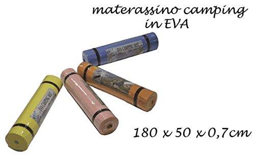 TAPPETINO MATERASSINO 180x50x0,7cm COLORI ASSORTITI