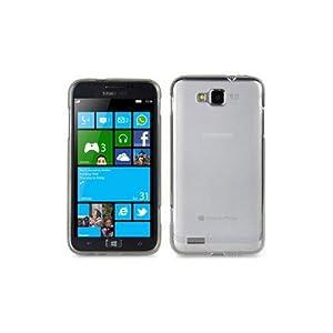 Hülle für Samsung Ativ S i8750 Tasche Case Skin Schutzülle aus TPU Silikon weiß Transparent