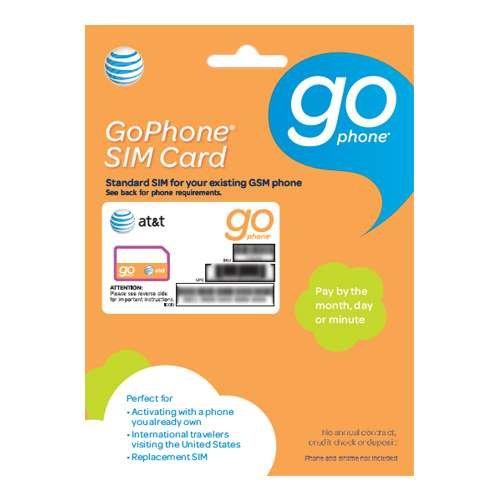 AT&T GoPhone Prepaid SIM Card Starter Kit - BYOP (Att Go Phone Starter Kit compare prices)