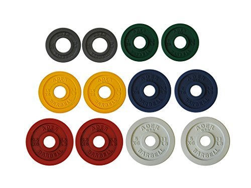 Ader-Precision-Color-Metal-Olympic-Kilo-Gram-Plates