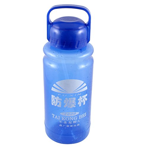 Cylindre en forme de thé d'eau potable Bouteille Cup 2000ml Clear Blue