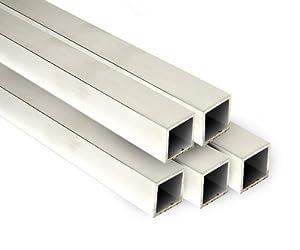 Aluminium Square Tube - 1 Metre Length - 25mm Box Tube