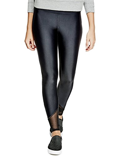 GUESS Womens Mesh-Inset Leggings