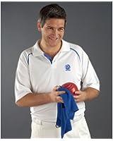 Taylor Bowls Ace Mens Sports Shirt White Blue