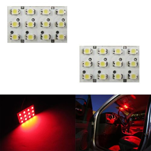 iJDMTOY 12-SMD LED Interior Map Dome Panel Lights, Brilliant Red (Interior Car Lights Led 07 Denali compare prices)