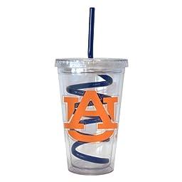 NCAA Auburn Tigers 16-ounce Tumbler with Swirl Straw